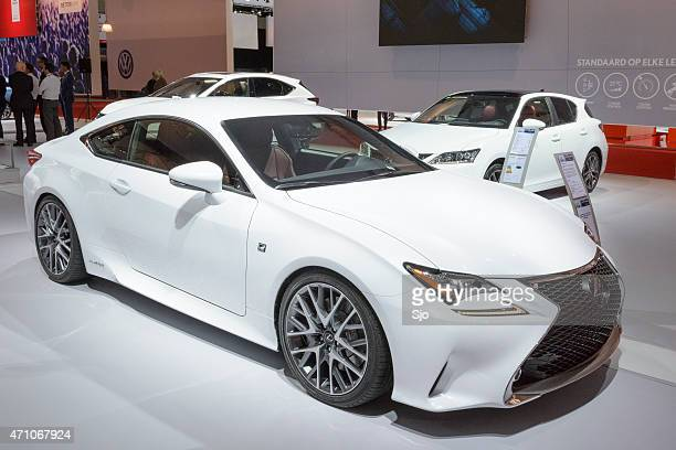 lexus rc f 300h hybrid coupe car - rc car stock photos and pictures