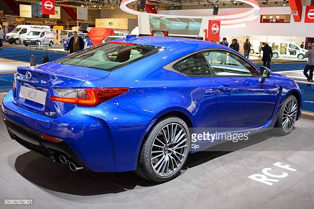 lexus rc f sports coupe car - rc car stock photos and pictures