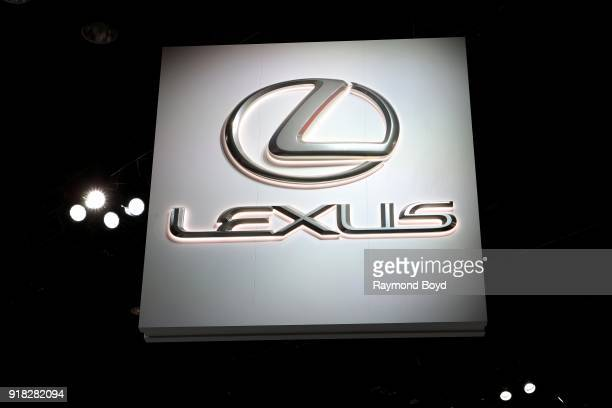Lexus signage is on display at the 110th Annual Chicago Auto Show at McCormick Place in Chicago, Illinois on February 8, 2018.