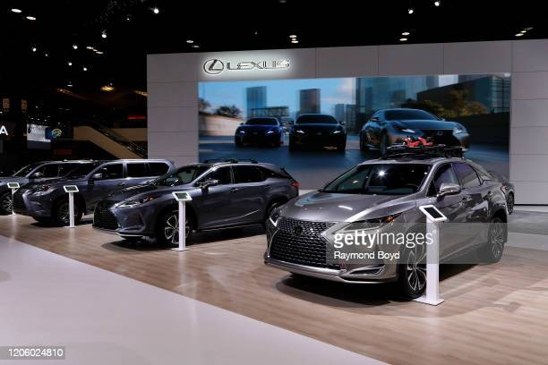 "Lexus vehicles are on display at the 112th Annual Chicago Auto Show at McCormick Place in Chicago, Illinois on February 7, 2020. ""n"