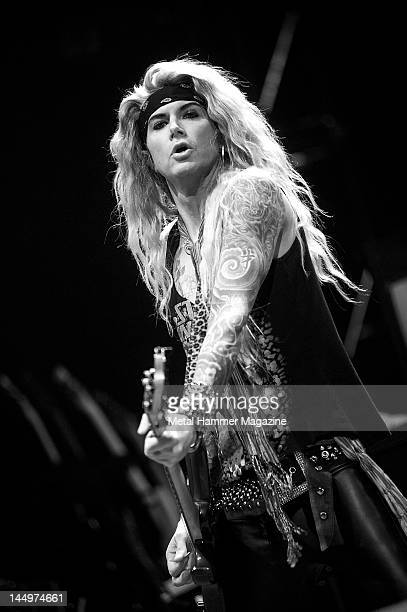 Lexxi Foxxx of Steel Panther performs live on stage at Ozzfest on September 18 2010