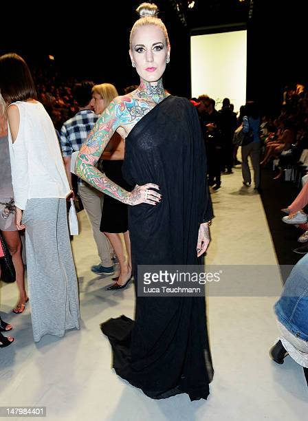 Lexy Hell attends the Holy Ghost show at MercedesBenz Fashion Week Spring/Summer 2013 on July 7 2012 in Berlin Germany