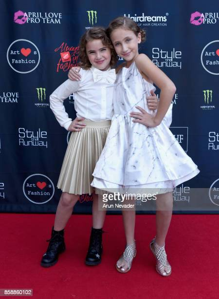Lexy Kolker and Ava Kolker at Los Angeles Fashion Week SS18 Art Hearts Fashion LAFW on October 7 2017 in Los Angeles California