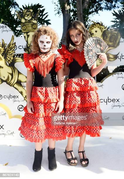 Lexy Kolker and Ava Kolker at the Cybex by Jeremy Scott Cherub Halloween Launch Celebration on October 28 2017 in Los Angeles California