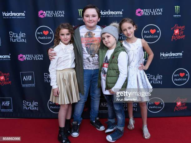 Lexy Kolker Quinn Friedman Cooper Friedman and Ava Kolker at Los Angeles Fashion Week SS18 Art Hearts Fashion LAFW on October 7 2017 in Los Angeles...