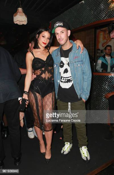 Lexy Panterra and DJ Eric DLux attend Lexy Panterra Single Release Party at Blind Dragon on May 23 2018 in West Hollywood California
