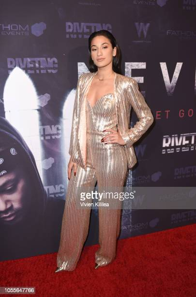 Lexy Panterra attends Never Heard Movie Premiere at AMC CityWalk Stadium 19 at Universal Studios Hollywood on October 30 2018 in Universal City...