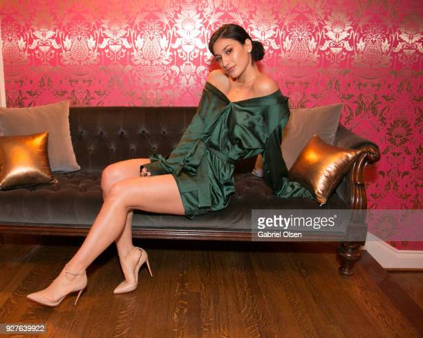 Lexy Panterra attends the Treats annual Oscars party at the private residence of Jonas Tahlin CEO of Absolut Elyx on March 4 2018 in Hollywood...