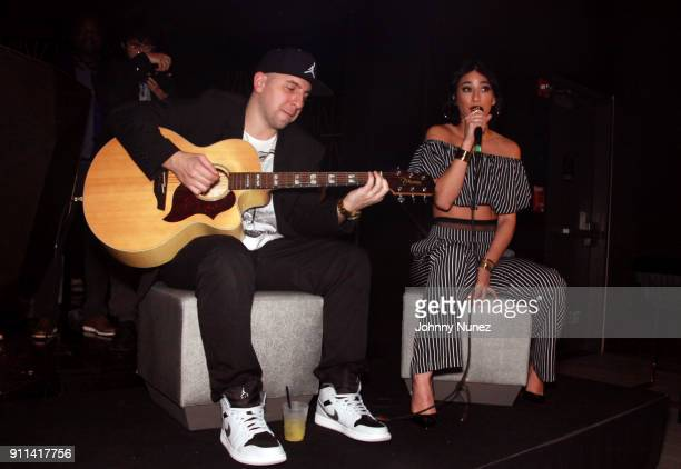 Lexy Panterra performs at the Lexy Panterra PreGrammy Party at W Hotel Times Square on January 27 2018 in New York City