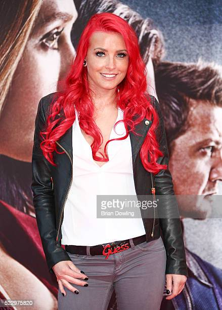 Lexy Roxx arrives at the Berlin premiere of the film 'The First Avenger Civil War' at Sony Centre on April 21 2016 in Berlin Germany