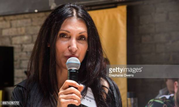 Leyla Nedorosleva speaks at the DGA Reception during 2017 Los Angeles Film Festival at City Tavern on June 16 2017 in Culver City California