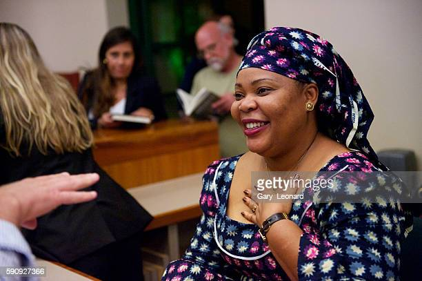 """Leymah Roberta Gbowee winner of the 2011 Nobel Peace Prize with Reverend Dr. Gwynne Guibord on her book tour for her Memoir """"Mighty Be Our Powers."""""""