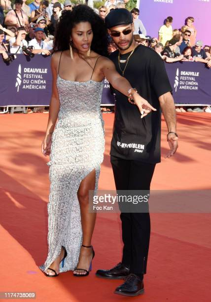 Leyna Bloom and her guest attend the Award Ceremony during the 45th Deauville American Film Festival on September 14 2019 in Deauville France