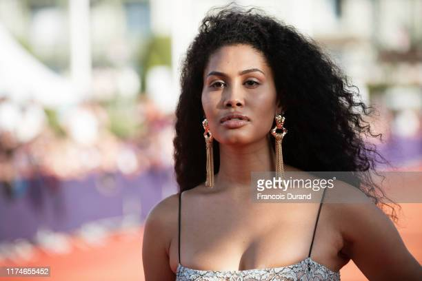Leyna Bloom arrives at the Award Ceremony during the 45th Deauville American Film Festival on September 14 2019 in Deauville France