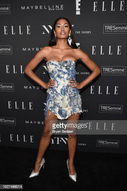 Leyna Bloom attends as E ELLE IMG celebrate the KickOff To NYFW The Shows at The Pool on September 5 2018 in New York City