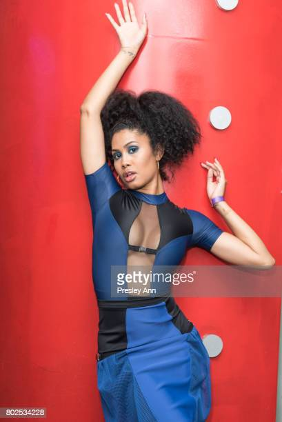 Leyna Bloom attends MAC Celebrates the Winner of the CFDA/Vogue Fashion Fund Capsule Collection CHROMAT at Maru Karaoke Lounge on June 27 2017 in New...