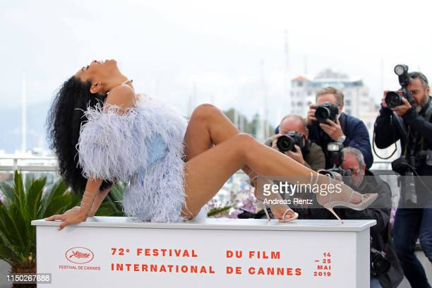 Leyna Bloom attends the photocall for Port Authority during the 72nd annual Cannes Film Festival on May 19 2019 in Cannes France