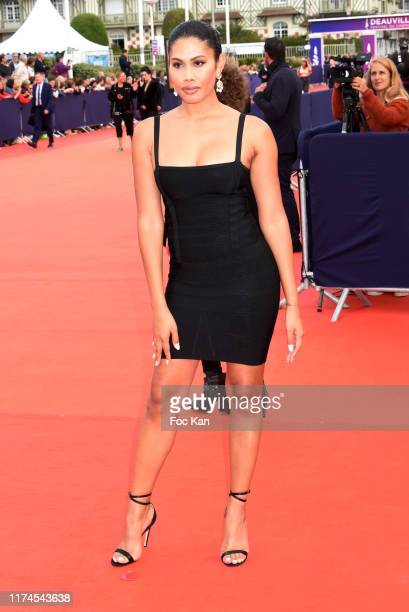 Leyna Bloom attends the Seberg Premiere during the 45th Deauville American Film Festival on September 13 2019 in Deauville France