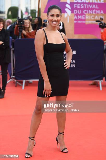 Leyna Bloom attends the Tribute to Kristen Stewart during the 45th Deauville American Film Festival on September 13 2019 in Deauville France