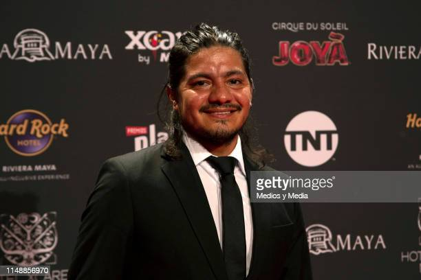Leynar Gomez poses for photos during the red carpet of the Premios Platino 2019 on May 12, 2019 in Playa del Carmen, Mexico.
