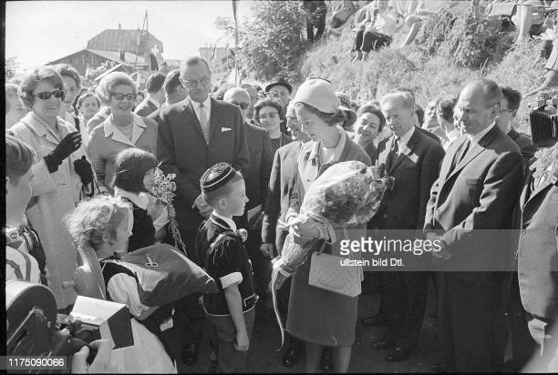 Queen Fabiola opens a belgian holiday resort 1967