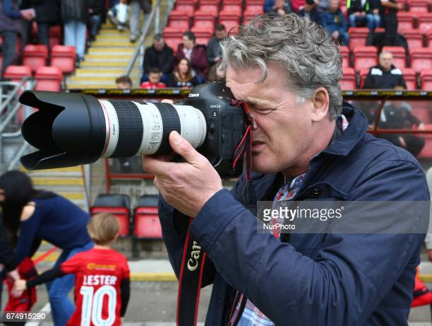 Leyton Orient club photographer Simon OConnor for 18 Years during Sky Bet League Two match between Leyton Orient and Colchester United at Brisbane...