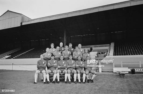 Leyton Orient Football Club, UK, 16th August 1967. Not in order: Tony Ackerman, Peter Allen, Malcom Slater, Barry Fry, Tommy Anderson, John Snedden,...