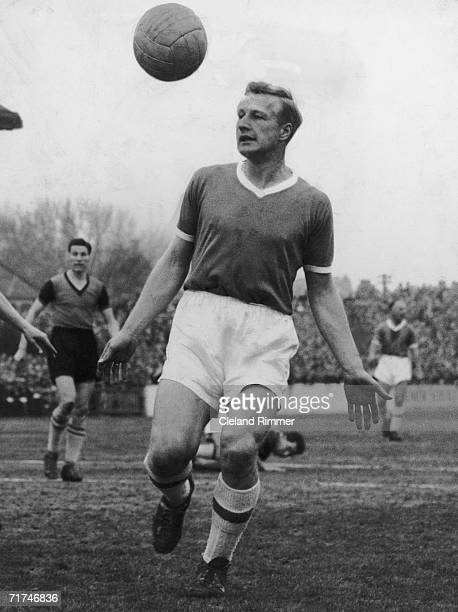 Leyton Orient full-back George Wright in action, 14th March 1959.