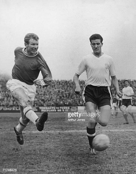 Leyton Orient inside forward Malcolm Graham in action, 2nd May 1962.
