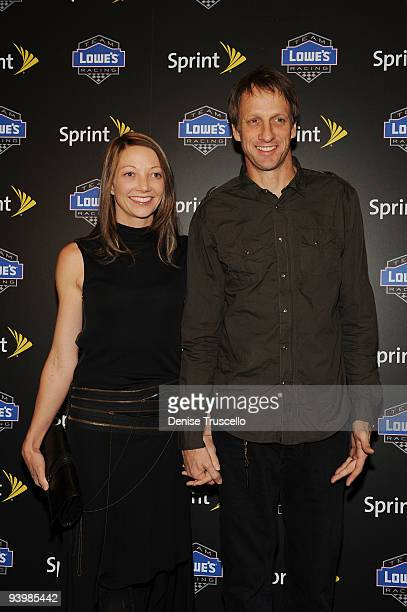 Lhotse Hawk and Tony Hawk arrives at the NASCAR SPRINT Cup party at Lavo at the Palazzo on December 4, 2009 in Las Vegas, Nevada.