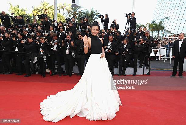 Li Bing Bing attends the 'Cafe Society' premiere and the Opening Night Gala during the 69th annual Cannes Film Festival at the Palais des Festivals...