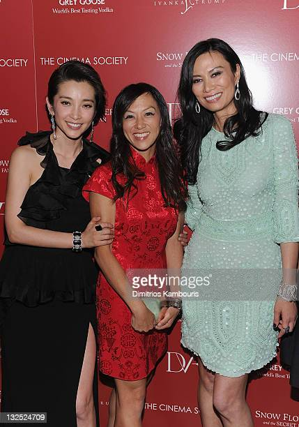 Li Bingbing Amy Chua and producer Wendi Murdoch attend the Cinema Society with Ivanka Trump Jewelry Diane Von Furstenberg screening of ''Snow Flower...