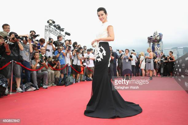 Li Bingbing arrives at the worldwide premiere screening of Transformers Age of Extinctionat the on June 19 2014 in Hong Kong Hong Kong