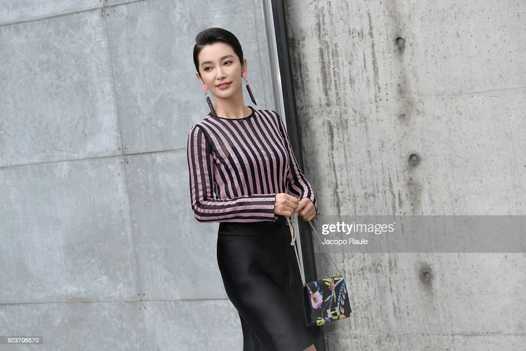 Giorgio Armani - Arrivals - Milan Fashion Week Fall/Winter 2018/19