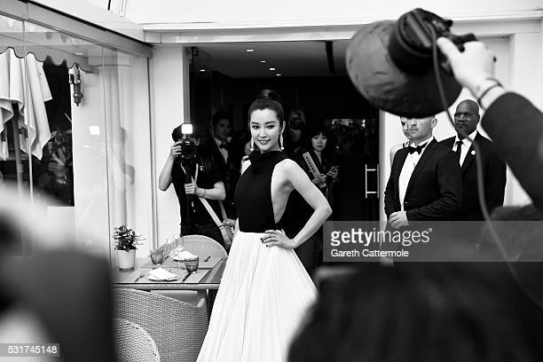 Li Bingbing departs the Martinez Hotel during the 69th annual Cannes Film Festival on May 11 2016 in Cannes France