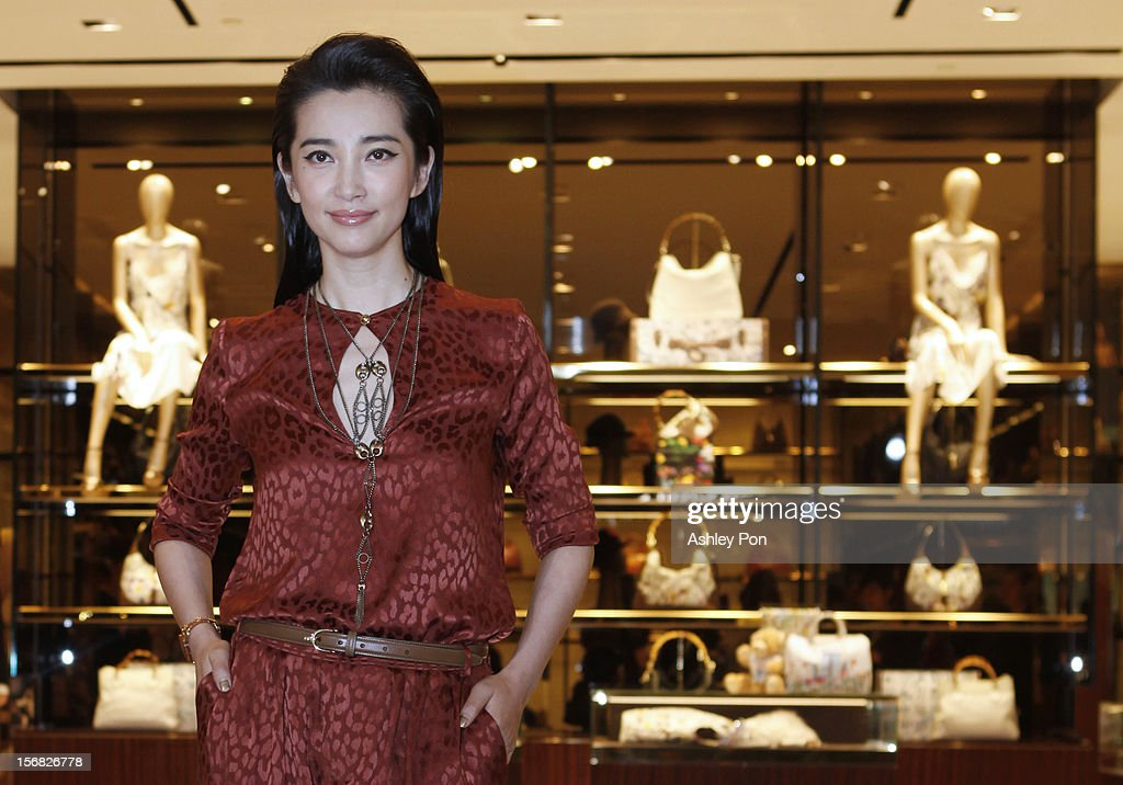 Li Bingbing poses for a photograph at the Gucci Flagship store opening at Taipei101 on November 22, 2012 in Taipei, Taiwan.