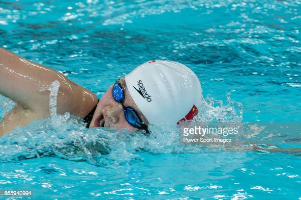 Li Bingjie of China during the FINA Swimming World Cup Women 800m Freestyle on September 30 2017 in Hong Kong Hong Kong