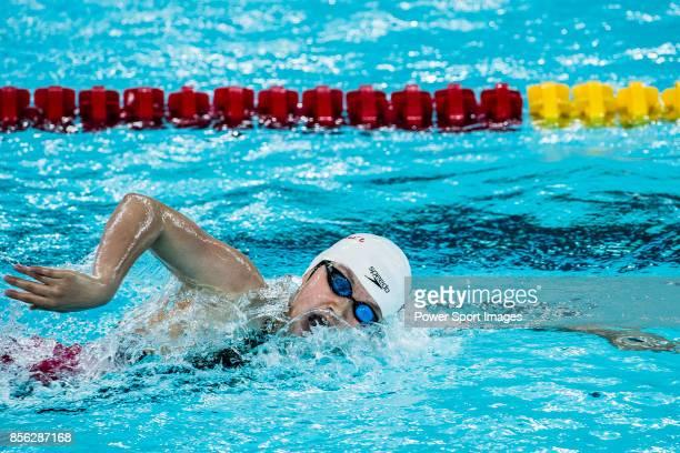Li Bingjie of China during the FINA Swimming World Cup Women's 400m Freestyle Final on October 01 2017 in Hong Kong Hong Kong