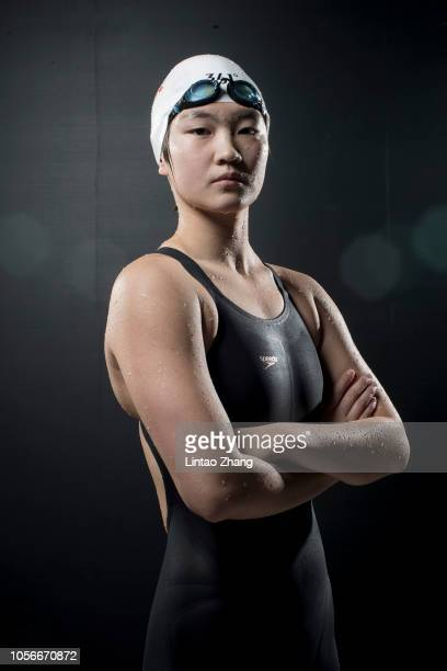 Li Bingjie of China poses for a portrait during FINA Swimming World Cup 2018 previews at National Aquatics Center on November 3 2018 in Beijing China