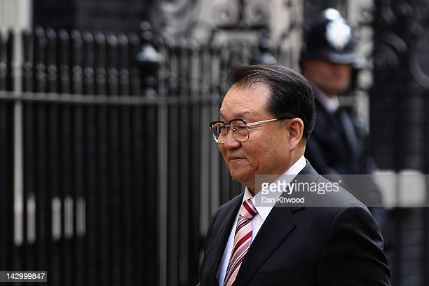 Li Changchun Of The Chinese Communist Party arrives at 10 Downing Street on April 17 2012 in London England Mr Chanchun is due to meet British Prime...