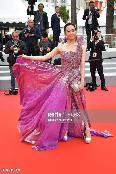Li Chun attends the screening of The Wild Goose Lake during the 72nd annual Cannes Film Festival on May 18 2019 in Cannes France