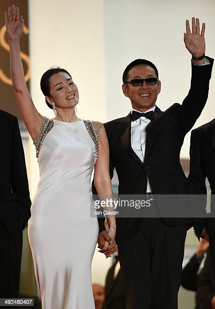 Li Gong and Chen Daoming attend the Gui Lai premiere during the 67th Annual Cannes Film Festival on May 20 2014 in Cannes France