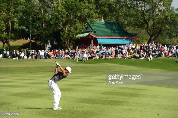 Li Haotong of China pictured during round one of the UBS Hong Kong Open at The Hong Kong Golf Club on November 23 2017 in Hong Kong Hong Kong
