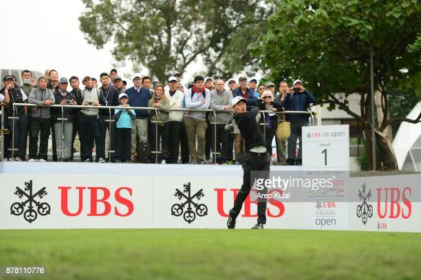 Li Haotong of China pictured during round two of the UBS Hong Kong Open at The Hong Kong Golf Club on November 24 2017 in Hong Kong Hong KongÊ