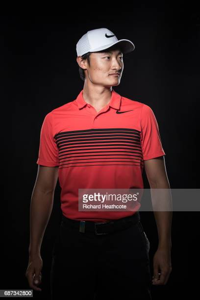 Li Haotong of China poses for a portrait during a practise round for the BMW PGA Championship at Wentworth on May 23 2017 in Virginia Water England