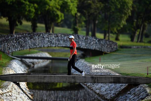 Li Haotong of China walks to the 3rd hole during Day Three of the Maybank Championship Malaysia at Saujana Golf and Country Club on February 11 2017...