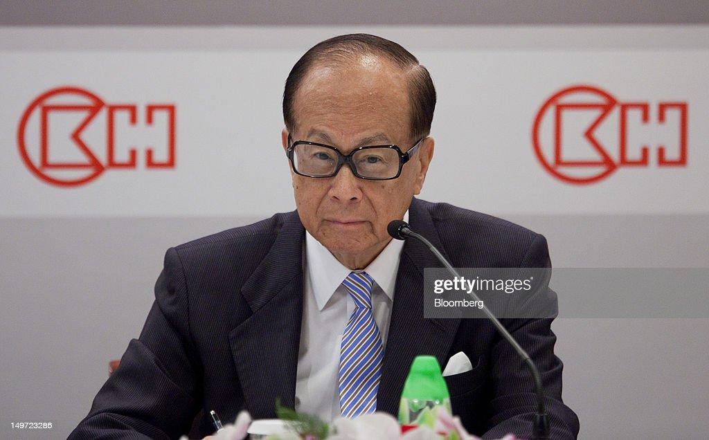 Billionaire Li Ka-shing At Cheung Kong Holdings And Hutchison Whampoa Earnings News Conference