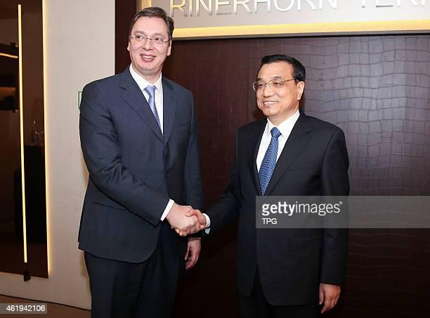 Li Keqiang at Davos World Economic Forum on 22th January 2015 in Davos Switzerland