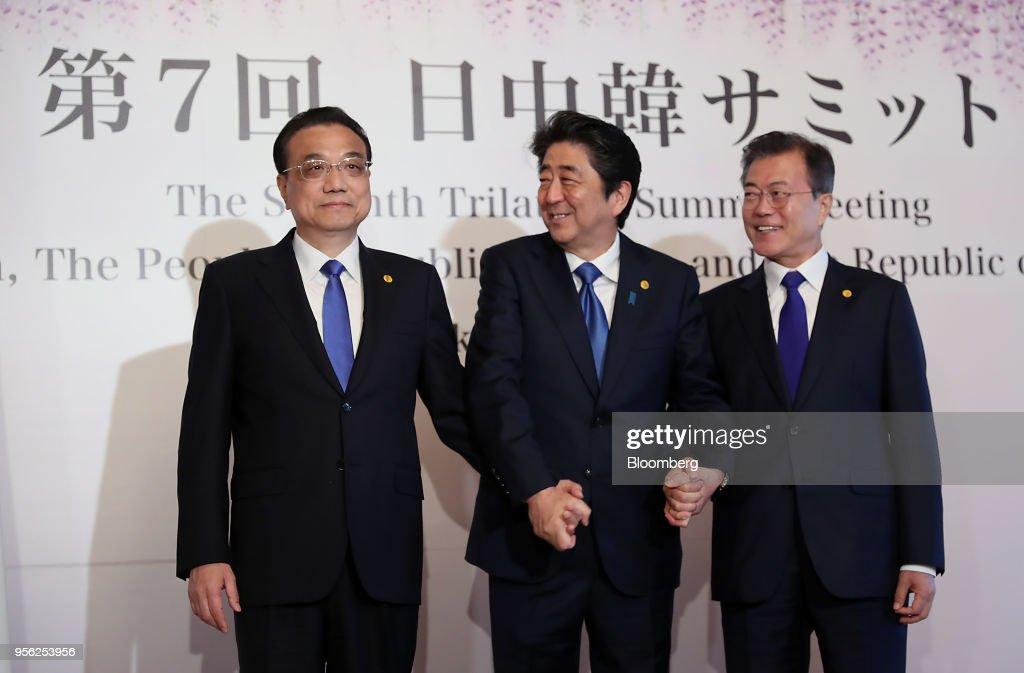 China-Japan-South Korea Trilateral Summit : News Photo