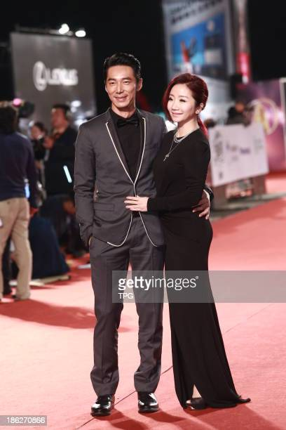 Li Liren and Momoco Tao attend the red carpet of the 48th Golden Bell Award on Friday October 252013 in TaipeiChina